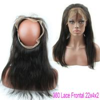 Best Brazilian Virgin Straight Hair Lace Closure Natural Hair 360 Lace Band With Baby Hair wholesale