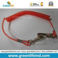 Best Red Hot Selling PU Spring String Coil Lanyard Tether wholesale