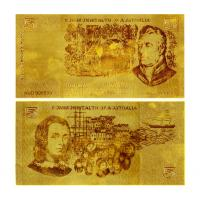 Buy cheap Old 50$ AUD Bill Pure Gold Banknote from wholesalers