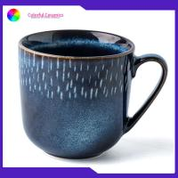 Best Household Drinking Promotional Ceramic Coffee Mugs Blue Creative Glaze wholesale