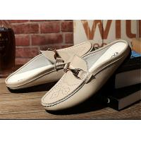 Buy cheap Creative Design Mens Backless Loafers , Backless Slip On Shoes MOC Toe from wholesalers