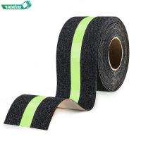 Buy cheap Traction Abrasive Adhesive Non Skid Tape With Reflective Stripe Single Sided from wholesalers