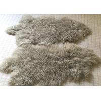 Best Tibetan Lamb Mongolian Fur Fabric For Throw Pillow Grey 60 * 90cm wholesale