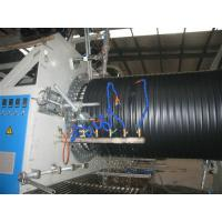 China HDPE / PP Hollow Corrugated Plastic Pipe Extrusion Line , Big Diameter 200mm - 2000mm on sale