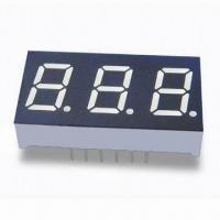 Triple Numerical 7 Segments LED Display, Amber Emitting Color, 0.4-inch Digit Height