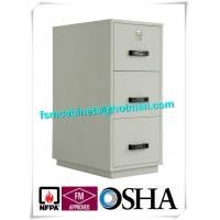 Best Metal Locking Fireproof File Cabinet Three Drawer 1 Hour Fire Rating wholesale
