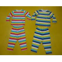 Best Comfy Multi Striped Kids Pajama Sets , Toddler Boys Winter Pajamas Private Label wholesale