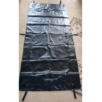 China Webbing Strap Handle PVC or PEVA black Body Bags Heavy Duty Transport 12-20Mil on sale