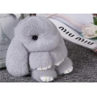 Best 15cm Womens Bag Fluffy Rabbit Keychain With Soft Hand Feeling / Customized Color wholesale