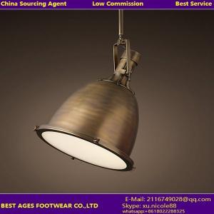 Best Antique Brass Color vintage metal pendant light wholesale
