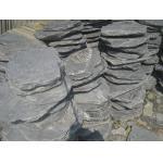 China Natural Slate Pavements Black Slate Stepping Stone Dark Grey Slate Round Paving Stone for sale
