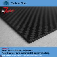 Buy cheap High strength light weight carbon fiber plate 1.0TM matte finish from wholesalers