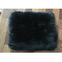 Cheap Long Hair Lambs Wool Padding For Chair , Soft Sheepskin Floor Cushion 45 X 45 Cm for sale