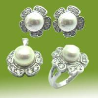 Best 925 Solid Silver Flower Silver Pearl Jewelry (RSC5336) wholesale
