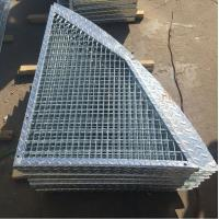 Best Outdoor Anti Slip Galvanized Bar Grating , 30 * 3mm Metal Grid Flooring wholesale