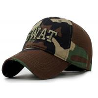 Camping Camouflage Baseball Cap , Sports Unisex Snapback Hats Adults Size