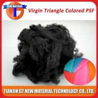 China Black Recycled Polyester Staple Fiber, Dope Dyed Recycled PSF for Nonwoven / Spinning Yarn 1.5D-15D on sale