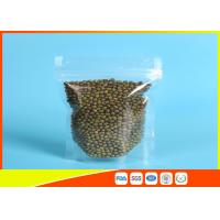 Best Clear Stand Up Pouches With Zipper For Household Use , Zip Lock Pouch Bags wholesale