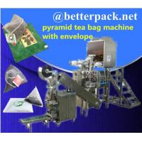 Best pyramid tea bag machine with outer envelope device wholesale