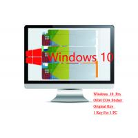 Best Genuine Microsoft win 10 professional Sticker 64bit Systems Online Activate Multi Language wholesale
