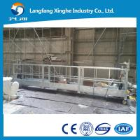 China Mobile hanging scaffolding , zlp series suspended working platform , curtain wall painting gondola on sale