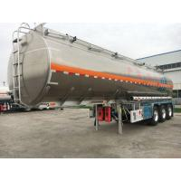 China 3Axles 30-50CBM 40-50tons Carbon Steel Material Oil Liquid Storage Tanker Semi Trailer on sale