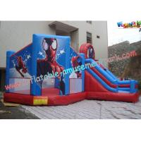 China Customized Party Outdoor Inflatable Bouncer Slide For Kids With Spiderman on sale