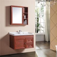 China Aluminum Alloy Bathroom Sinks And Vanities With Mirror Cabinet / Two Drawers on sale