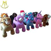 China Hansel high quality wholesale battery operated plush electric ride on animals in mall on sale