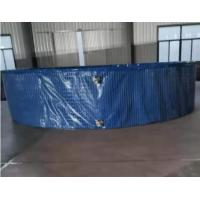 Best 40000L Fish Farming Tank with Steel Mesh Water Tank Non-Toxic UV Resistant, 6M(D)*1.4M(H) wholesale