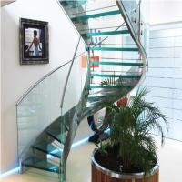Best High Quality Indoor / Outdoor Stair Steps Lowes for Carbon Steel Curved Staircase with Open Riser Steps wholesale