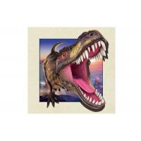 Best Dinosaur Image 0.6mm PET 3d Lenticular Pictures For Decoration 40x40cm wholesale