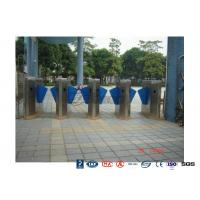 Cheap High End Flap Barrier Gate / Flap Barrier Turnstile Attendance For Entrance Control for sale