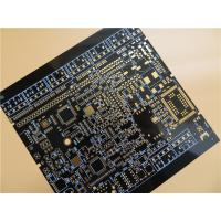 Best Black PCB Built On FR-4 With Immersion Gold and 6 Layer Copper wholesale