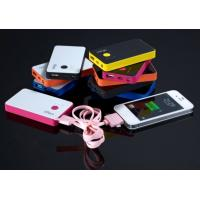Best Black / White 3000mah Portable Dual USB Power Bank For Phones / IPAD wholesale