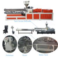 Best Color Masterbatch Twin Screw Extruder , Pvc Extruder MachineWater Strand Cutting System wholesale