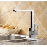 Best hot and cold sink mounted square kitchen brass faucet deck mounted chrome plating brass kitchen faucet wholesale