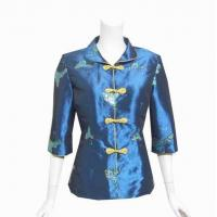 China Blue Chinese Style Jacket - Thai Silk on sale