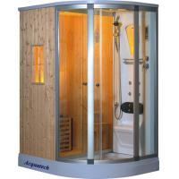 China 3000W small luxury steam shower bathtub combo Sauna Rooms cabins enclosures on sale