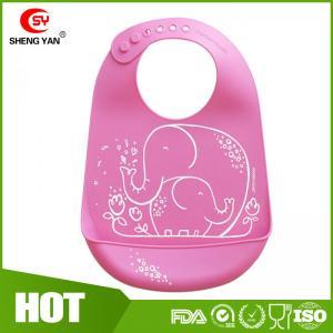 Best Protable Soft Durable FDA Silicone Baby Bibs Printed Apron LFGB wholesale