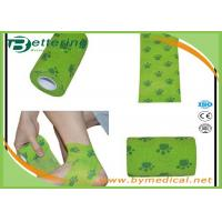 Flexible Stretch Bandage Wrap For Veterinary Pet / People With Dog Paw Printing