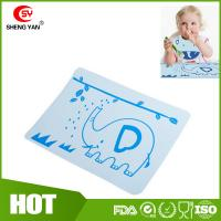 Best BPA Free Flexible Durable Silicone Kids Placemat With Elephant Printed wholesale