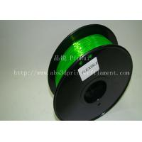Cheap Green 0.8kg / Roll Flexible 3D Printer Filament Environmentally Friendly for sale