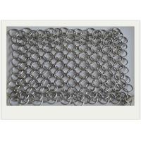 Best 6*8 Stainless Steel Chainmail Scrubber / Cast Iron Chain Cleaner Non - Toxic wholesale