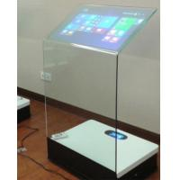 Best 30 Inch Interactive Touch Screen Platform Advertising Display Transparent Booth wholesale