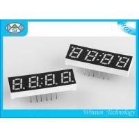 Best Four Digit 0.33 Inch 7 Segment Led Digital Display Red Low Voltage For Clock wholesale
