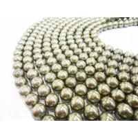 Best Semi Precious Gem Beads, Pyrite Stone Bead Strands 10mm Round wholesale