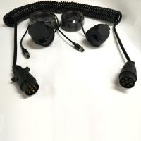 Best Black Trailer 7 Pin Trailer Extension Cord For Rear View Camera Monitoring System wholesale