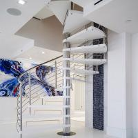 Cheap Stainless Steel Spiarl Staircase Custom Delicate Spiarl Staircase Design for sale