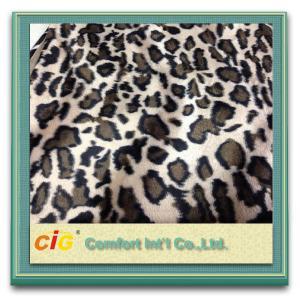 Best Animal Printed Realistic Faux fur Fabric For Scarf Garment / Coat , Soft Long Pile Fake Fur Material wholesale